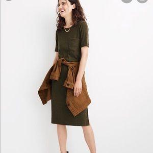 Madewell Ribbed Pocket Midi Dress NWT